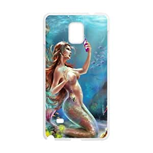 Samsung galaxy note 4 N9100 The little mermaid Phone Back Case DIY Art Print Design Hard Shell Protection YG018194