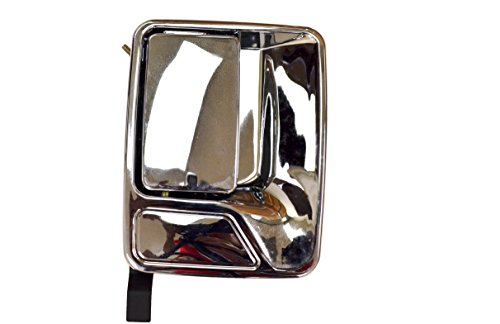 Door Handle Chrome Excursion (PT Auto Warehouse FO-3523M-RR - Outside Exterior Outer Door Handle, Chrome - Passenger Side Rear)