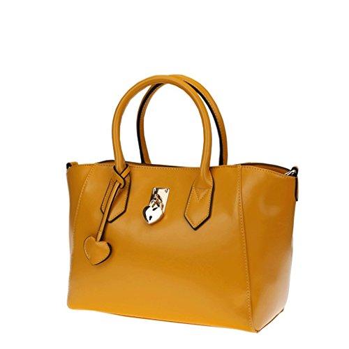 Handbag La Nueva Bolsa de Mensajero de Hombro con Estilo, Bolsos de Gran Capacidad, Bolsos, Bolsa de Mujer Hermosa Multicolor. A+ (Color : Pink) Amarillo