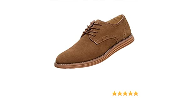 Gleader NUEVOS zapatos de gamuza de cuero de estilo europeo oxfords de los hombres casuales 999 Poco Bronceada(tamano 41) paNWQFC