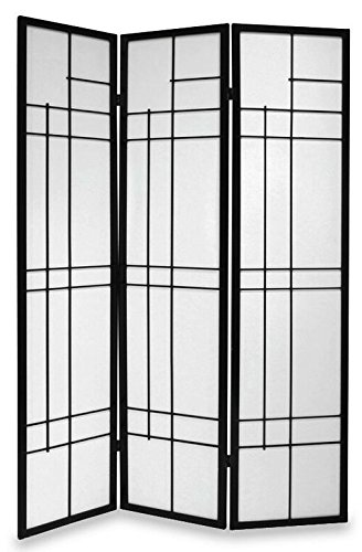 TREND ROOM DIVIDER SCREEN - BLACK - 3 PANEL DOUBLE SIDED FOLDABLE PRIVACY SCREEN - THESE ARE HIGH QUALITY DRESSING SCREENS / PARTITIONS FROM ROOM DIVIDERS UK