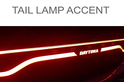 DAYTONA rear tail light lamp accent decal compatible with Dodge 2015 2016 - Rear Accent