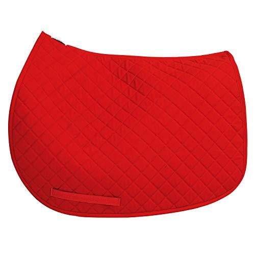 TuffRider Basic All Purpose Saddle Pad,Red,Standard