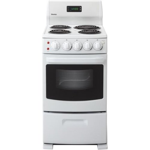 Danby DER2099W 20 Freestanding Electric Range with 4 Coil Burners, 2.6 cu. ft. Oven – White image