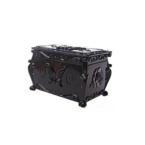 1 X Anna sui style Classic Black Retro Double makeup cotton cosmetics Storage box