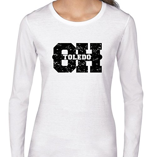 Hollywood Thread Toledo, Ohio OH Classic City State Sign Women's Long Sleeve T-Shirt -