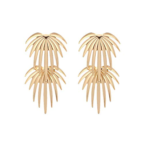 Earrings for Lady Brushed Alloy Leaves Fashion Earrings Women Jewelry Gifts
