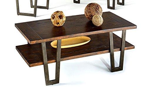 Progressive Furniture P327-01 Sedona Rectangular Cocktail Table, Wire Brushed Light Elm