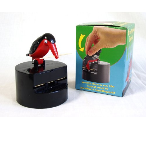 Accoutraments BIRD Toothpick Dispenser Gag Gift HANDY Clean Teeth NEW ()