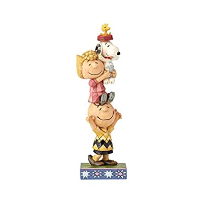 """Enesco Peanuts by Jim Shore Charlie Brown and Friends You Lift Me Up Figurine 7.25"""" Multicolor"""