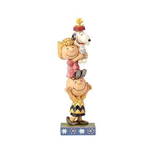 "Enesco Peanuts by Jim Shore Charlie Brown and Friends You Lift Me Up Figurine 7.25"" Multicolor"