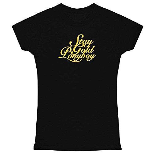 Stay Gold Ponyboy Black M Womens Tee Shirt