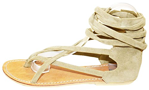 11sunshop - Sandalias de Vestir de Otra Piel Mujer marrón