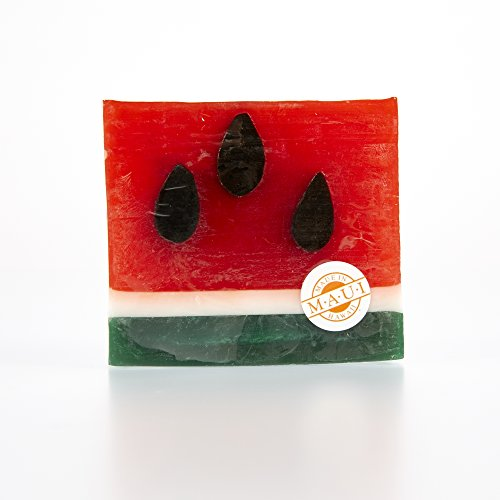 Glycerine Soap Slice - Moku Pua Artisan Glycerin Soap, Watermelon Slices, 4.5oz