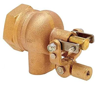 Float Valve, 2in., LF Brass, Pipe Mount from BOB