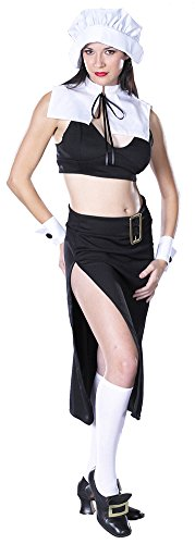 Adult-Costume Prudence Naughty Pilgrim Lg Halloween Costume - Adult ()
