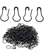 erioctry 1000PCS Metal Gourd Safety Pins Small Wire Pins Craft Bulb Pin Clothing Tag Pins DIY Home Accessories (Black)