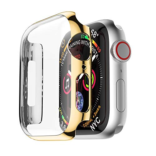 Price comparison product image certainPL HD Apple Watch 4 Case 44mm Shock Proof and Shatter-Resistant Protective Bumper Case Replacement for Apple Watch Series 4 44mm (Gold)