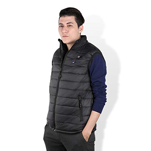 OUTCOOL Men's Heated Vest Light Weight Insulated Heating Winter Vest [Type: NMJ1803](XL) Black