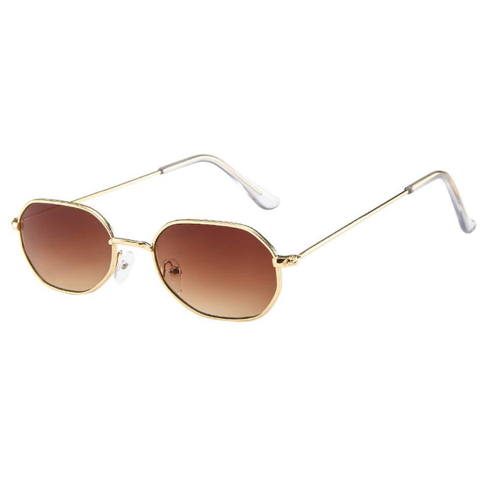 Holata Women Men Vintage Retro Glasses Unisex Small Frame Sunglasses Eyewear
