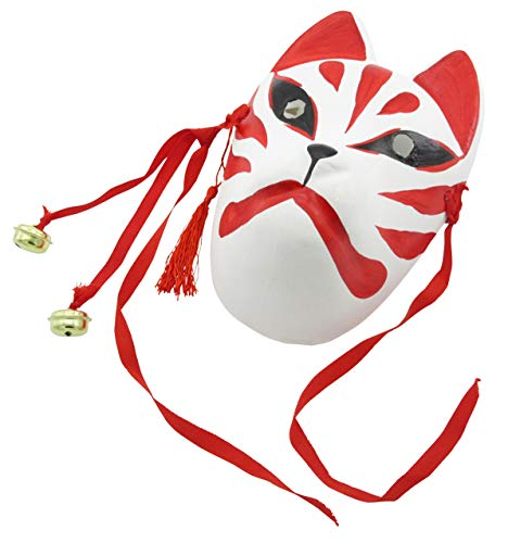 Nakimo Fox Mask Japanese Style Anime Fox Mask Cosplay Accessories Mask for Party  Masquerade Costume Halloween -