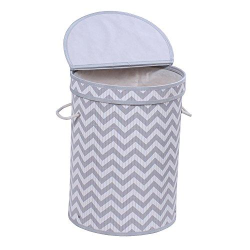 Folding Bamboo Laundry Hamper Clothes Hamper Basket with Lid