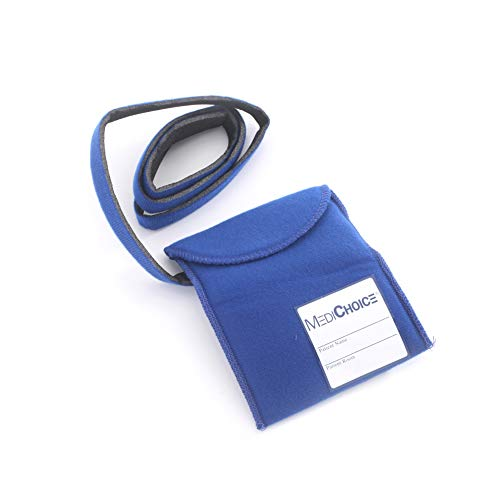 - MediChoice Telemetry Pouch, Pre-Attached Patient ID Label, Hook & Loop Waist Belt, 4 3/4x6 Inches, Blue, 13140MC902 (Case of 50)