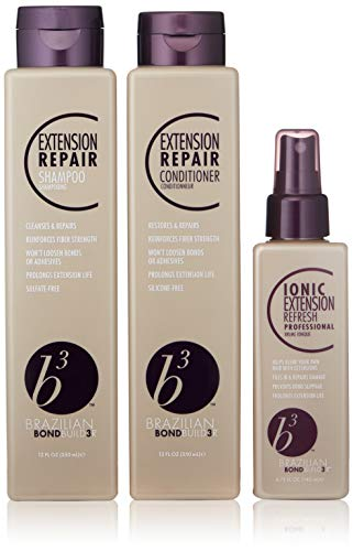 B3 Brazilian Bondbuilder Extension Shampoo/Conditioner/Refresh Trio Pack, 15 fl. oz.