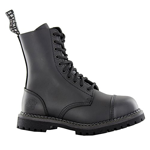 10 Eyelet Cap Toe Boot (Grinders Stag 2015 Matte Finish Mens Safety Steel Toe Cap Boots, Size 10)