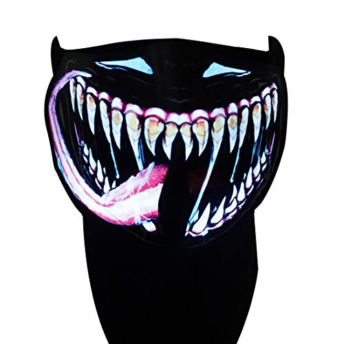 Sound Activated Mask - Party Music Mask, Sound Reactive LED