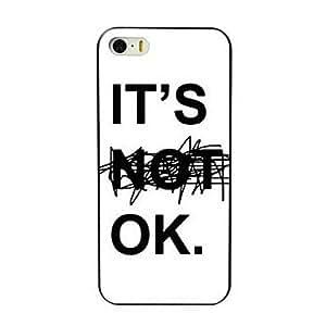 DD It's OK Design Hard Case for iPhone 4/4S , Multicolor