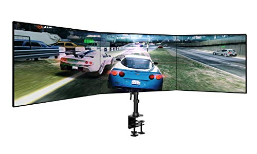 Jestik Triple Monitor Desk Mount Holds Screens up to 27