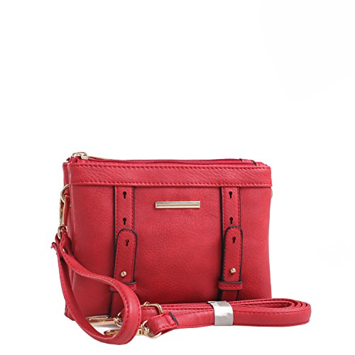 Crossbody by Cara Mia Double Red Farrow Collection Compartment MKF K n8xqwA1nF4