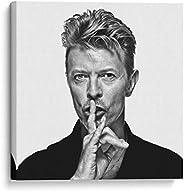 Cuadro decorativo de canvas (lienzo), David Bowie shhh - Arte famoso & Alimentos & Caballeros del Zodi