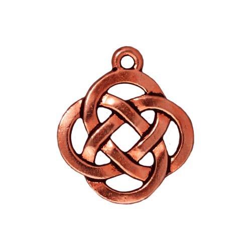 Tierracast Celtic Knot - TierraCast Copper Plated Pewter Celtic Knot Open Pendant Charm 20mm (1)