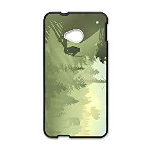 HTC One M7 Cell Phone Case Black Planetscape Trilogy OQ7669072