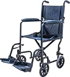 Medical Supply Transport Chair Wheel Chair, 19'', Silver