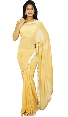 Indian Traditional Party Wear Sari Designer Georgette Wedding - Indian Traditional Wear