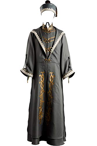 Wecos Adult Halloween Costume Wizard Tunic Robe Uniform Outfit with Hat -