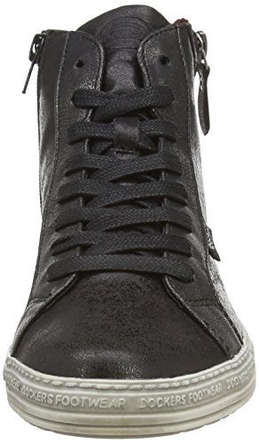 Gerli By schwarz 32ln213 Noir silber Dockers Sneakers Femme 155 AwH5xqP