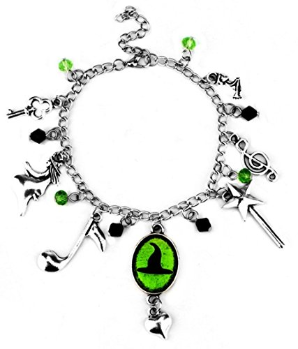 Wicked Costumes Musical (Broadway Musical Wicked Defy Gravity Silvertone Charm Bracelet)