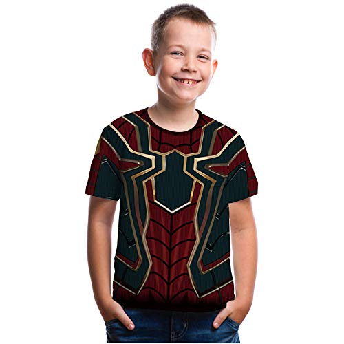 CHOICE99 Spiderman Children T-Shirt boy Girl 3D Printing sprid Man Shirt Kids Tops tee Black