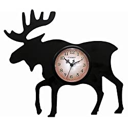 Chaney 75143 Moose Silhouette Clock