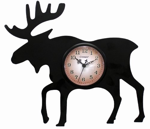 Chaney 75143 Moose Silhouette Clock - Chaney Metal Clock