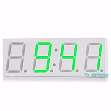 YONGYAO Electrónica Bricolaje 0.8 Inches Dot Matrix Led Digital Reloj Electrónico Kit Coche Reloj 5V Mciro USB Powered: Amazon.es: Hogar