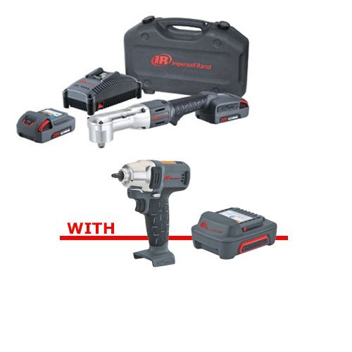 """Price comparison product image IRC-W5350-K22IMB - 1 / 2"""" 20V Right Angle Impactool Two Battery Kit (W5350-K22),  1 / 4"""" 12V Cordless Impact Wrench (W1120) & IQV12 Series 12V 2.0Ah Lithium-Ion Battery (BL1203)"""