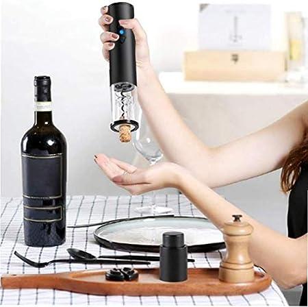 Nicedier Abridores de Botella de Vino eléctrico con Pilas de Herramientas automático de Vino Sacacorchos Set ContaFoil, Citas, Amante del Vino (no incluya la batería)