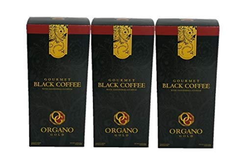 3 Box Organo Gold Black Coffee ,100% Ganoderma,Express Ship(Black coffee