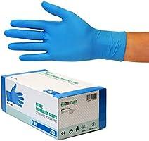 S Color: Azul Cobalto Talla: Sin Polvo Caja de 100 Guantes VENSALUD Guantes de nitrilo Desechables