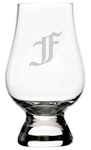 Monogram Etched Glass (Old English Etched Monogram Glencairn Crystal Whisky Glass (Letter F))